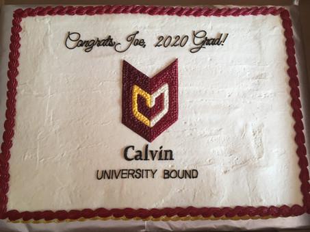 Calvin University Graduation Cake
