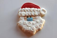 Masked Santa Sugar Cookie