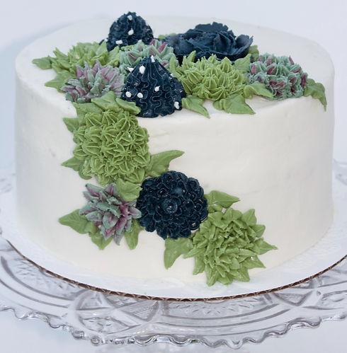 Buttercream Succulent Baby Shower Cake