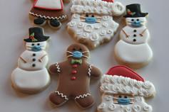Masked Christmas Sugar Cookies
