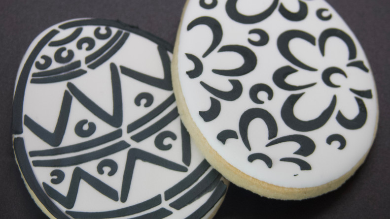 Paint Your Own Easter Egg Sugar Cookie