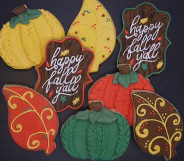 Happy Fall Y'all Sugar Cookies
