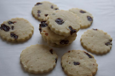 Lime Shortbread Cookies with Dried Cherries
