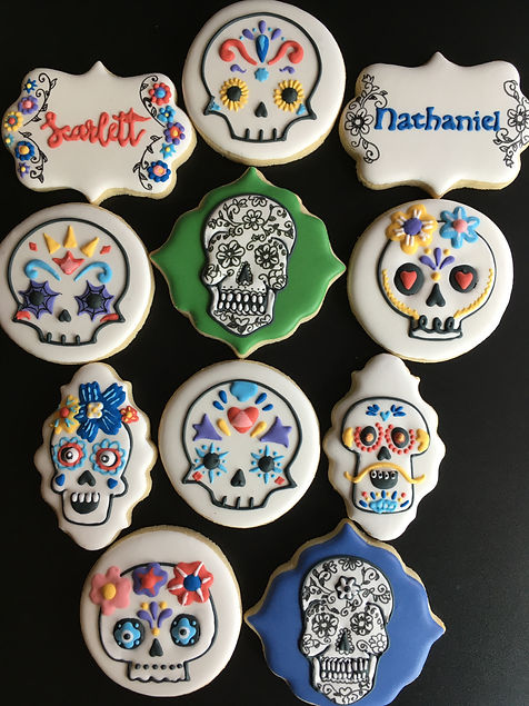 Day of the Dead Royal Icing Sugar Cookies