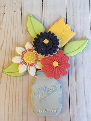 Flower Bouquet Sugar Cookies