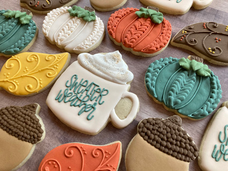 Fall Theme Sugar Cookies