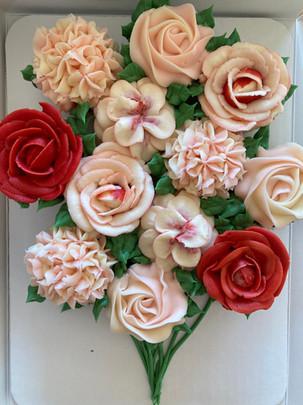 Buttercream Rose Petal Flower Bouquet
