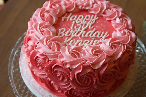 Buttercream Rose Birthday Cake