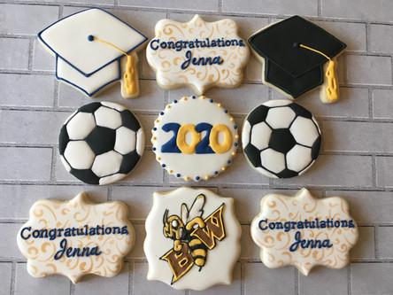 Graduation Sugar Cookies 2020