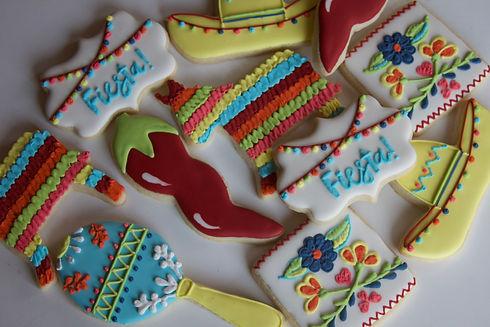 Mexican Fiesta Royal Icing Sugar Cookies