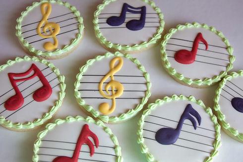 Music Notes Royal Icing Sugar Cookies