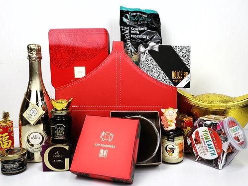 農曆新年禮物籃 E: 原粒黑松露+半島酒店禮盒x2 HAMPER E: Gold Prosecco +Peninsula Gift Set x2