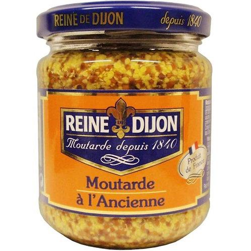 REINE DE DIJON - 法國進口雷恩大藏整粒芥末籽醬粗粒 190克 // Whole Grain Mustard Flask 190gram