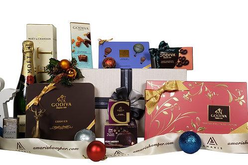 Godiva香檳系列 聖誕禮物籃 P - Godiva Christmas Deluxe Christmas Hamper P