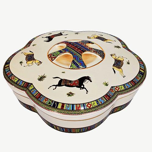 全盒(陶瓷製) B : [適合過大禮 / 結婚] 中式婚禮 婚慶 婚宴 (傳統新娘敬茶之後, 派糖時用)