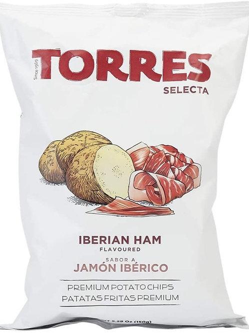 TORRES  伊比利亞火腿味薯片 150克 Selecta Iberian Ham Flavoured Premium Potato Chips 150G