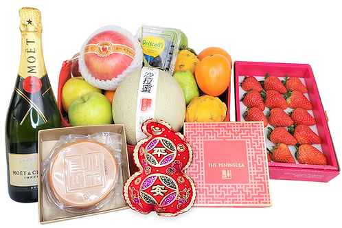 賀年生果禮物籃 O Chinese New Year Hamper O 連運費 Free Delivery