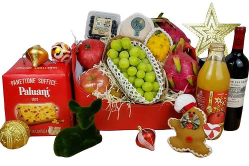 聖誕健康生果禮物籃 I Christmas Healthy Fruit Basket I