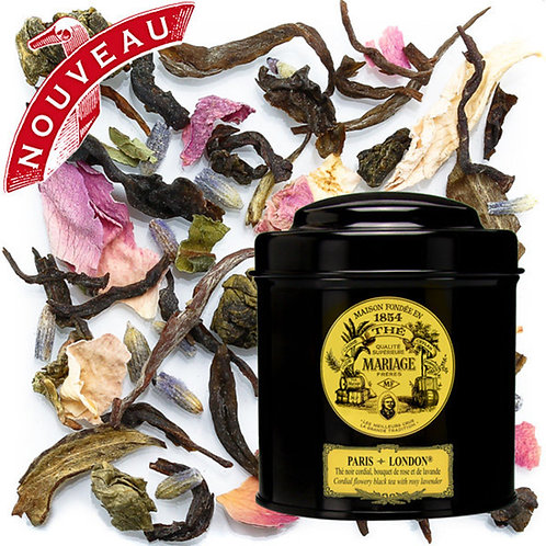 Mariage Frères - 法國瑪黑茶 茶葉  玫瑰花茶 白茶 (特別版) 鐵罐包裝 PARIS-LONDON® 100克 / 3.5安士
