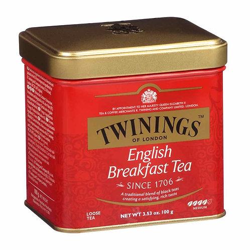 川寧 - 經典英式早餐散裝茶 - 100克 (紅) // Twinings English Breakfast Tea - 100g (Red)