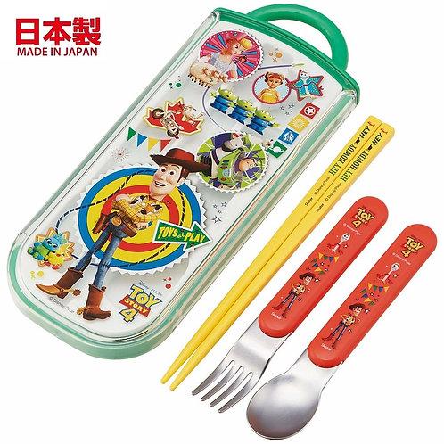 迪士尼反斗奇兵 - (日本製) 反斗奇兵 4 兒童餐具套裝 (Made in Japan) Toy Story Plastic Cultery Set