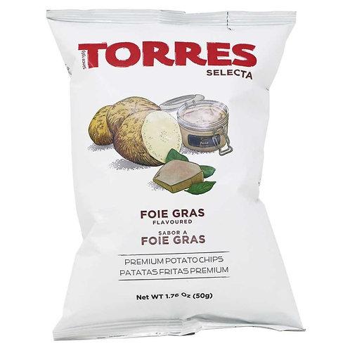 TORRES 鵝肝味薯片 50克 Selecta Foie Gras Premium Potato Chips 50G