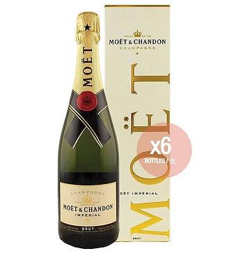 Moët & Chandon - 連禮盒法國酩悅香檳 750毫升 - [限時優惠 , 6 支優惠套裝 ]