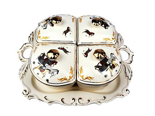 全盒(陶瓷製) A : [適合過大禮 / 結婚] 中式婚禮 婚慶 婚宴 (傳統新娘敬茶之後, 派糖時用)