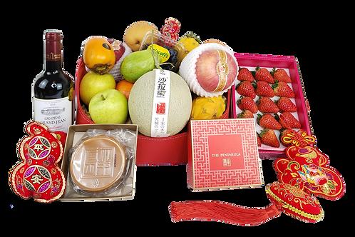 賀年生果禮物籃 D Chinese New Year Hamper D 連運費 Free Delivery