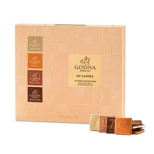 Godiva-片裝朱古力 / 巧克力禮盒 (60片裝) 禮物 // Full Range Carrés Collection (60 pieces) Gift