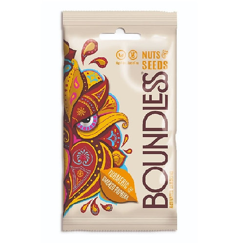 Boundless - 薑黃和煙熏辣椒粉雜錦果仁 / Turmeric & Smoked Paprika Activated Nuts & Seeds(30g)