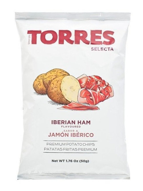 TORRES 伊比利亞火腿味薯片 50克 Selecta Iberian Ham Flavoured Premium Potato Chips 50G