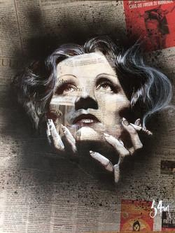 Marlène Dietrich (40x50) vendu