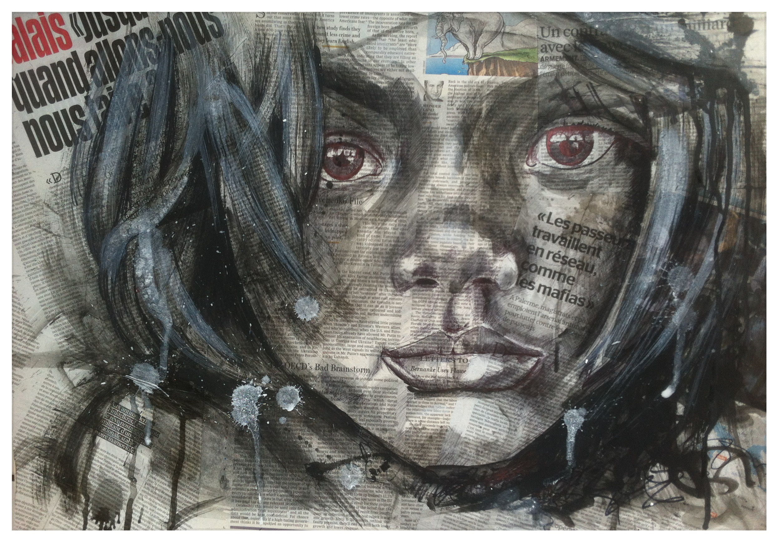 Réfugié (50x70) vendu
