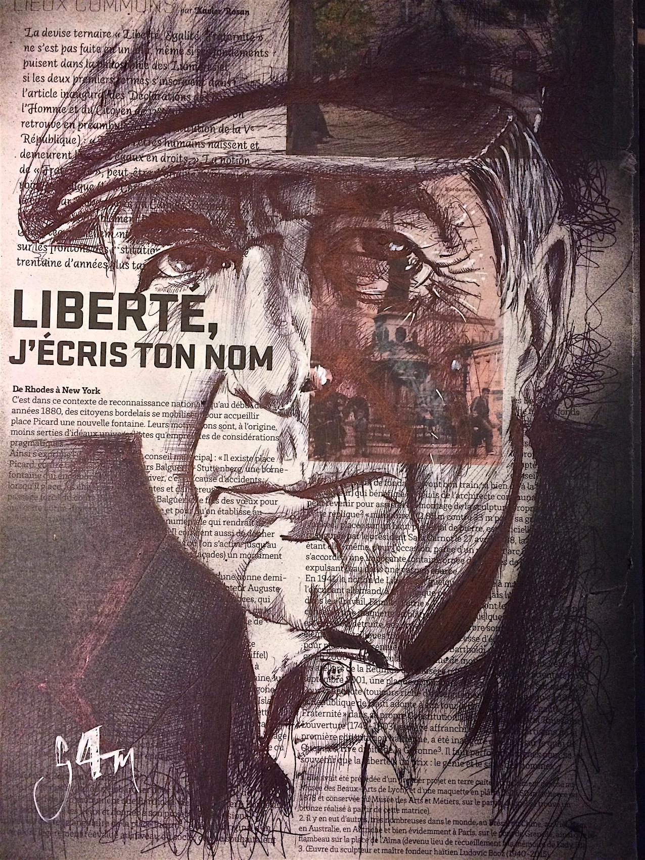 Leonard Cohen (25x35) Vendu