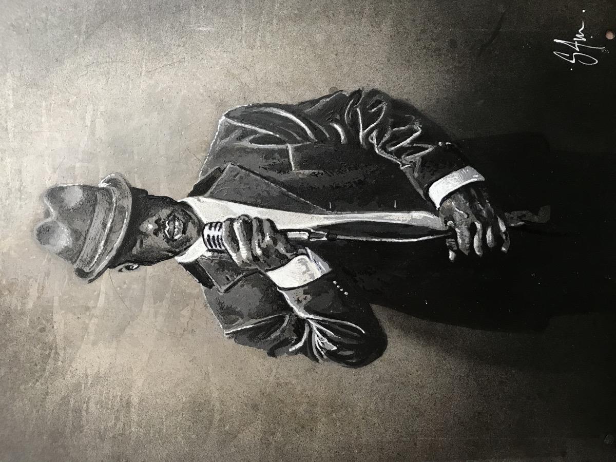 Jazz singer (25x35 sur plaque métallique