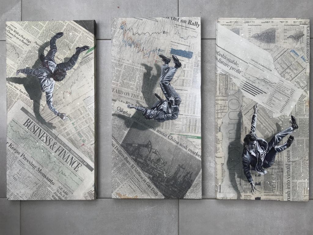 la chute (triptyque 25x40)