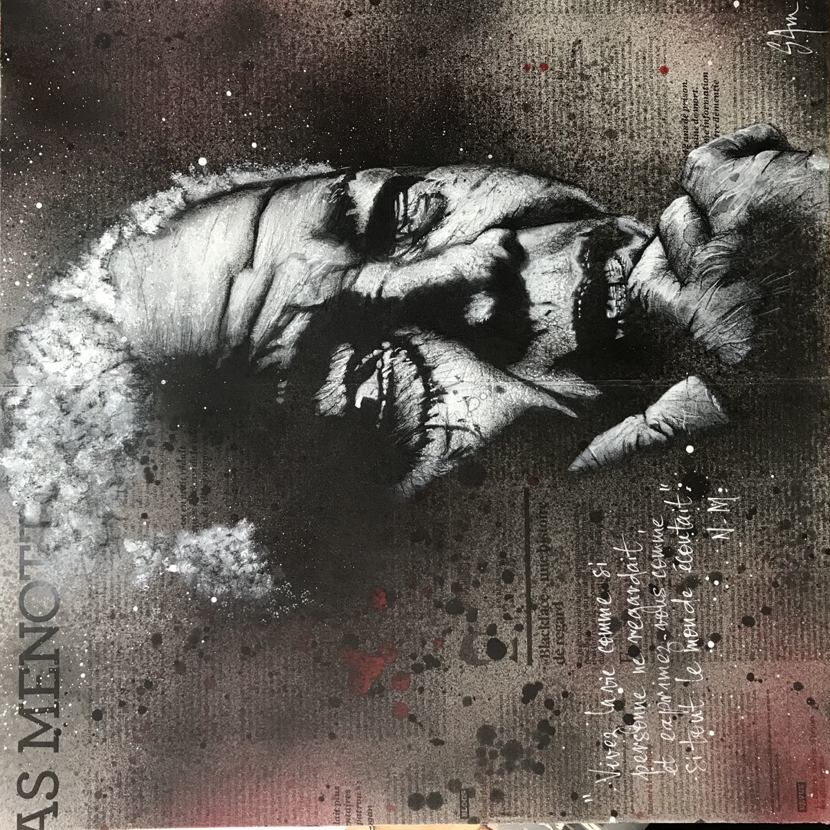 Mandela  (50x50) dispo en gallerie