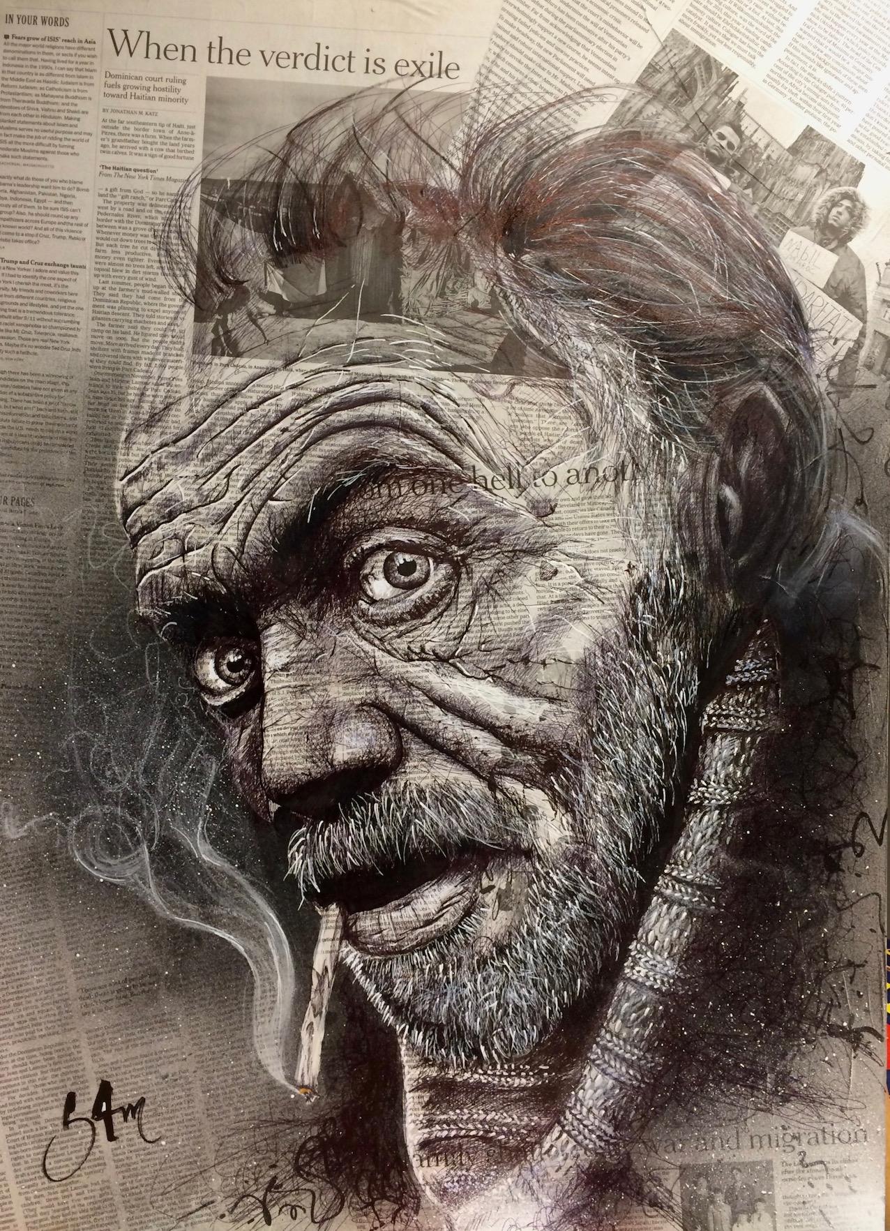 Street life (50x70) vendu