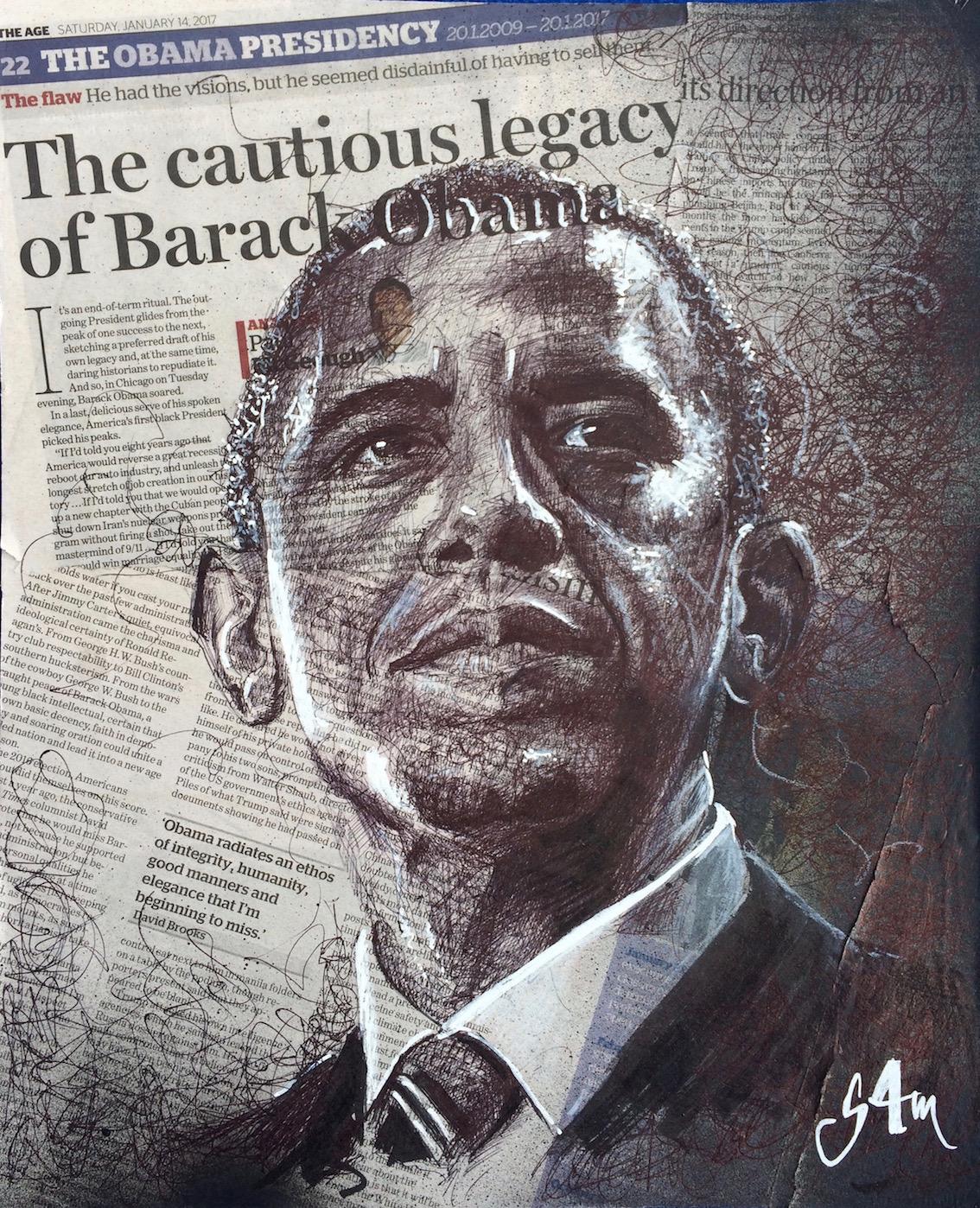 Barak Obama (30x40)