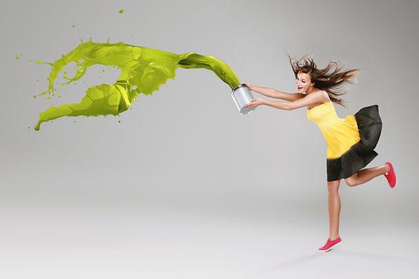 Woman with paint splash