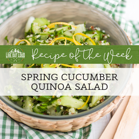 Spring Cucumber Quinoa Salad