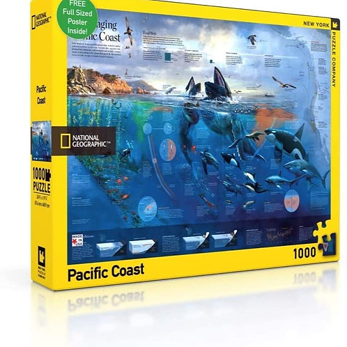 Nat Geo Pacific Coast 1000 Piece Puzzle