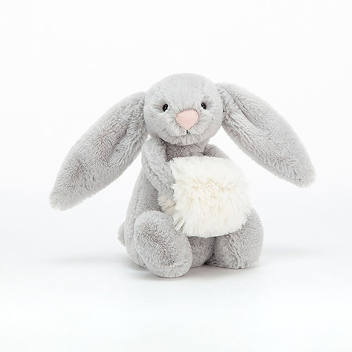 Jellycat Small Bashful Grey Snow Bunny
