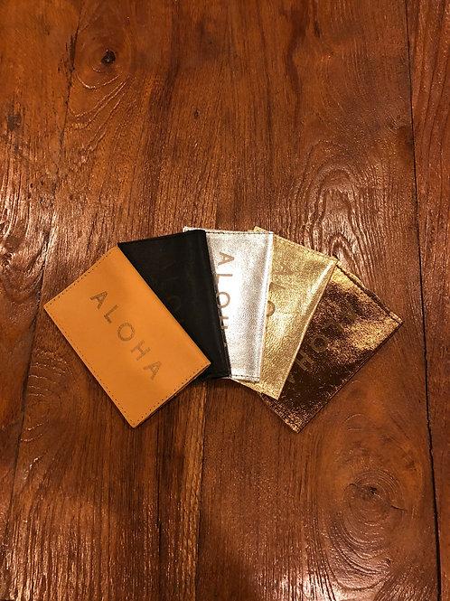 Aloha Leather Business Card Holder
