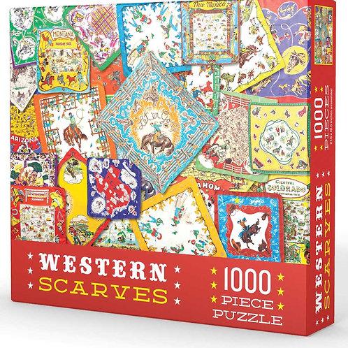 Western Scarves 1000 Piece Puzzle
