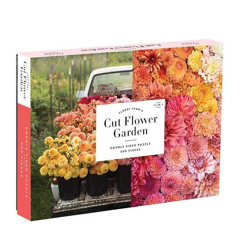 Cut Flower Garden Puzzle 500 Piece Double Sided