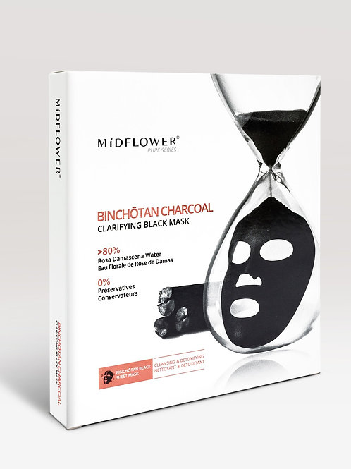Binochotan Charcoal Clarifying Black Mask/5 Masks