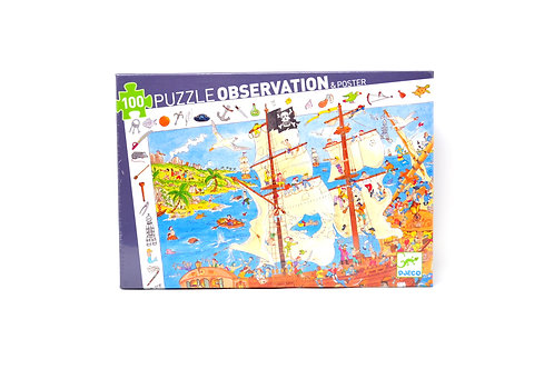 100 Piece Puzzle Observation & Poster