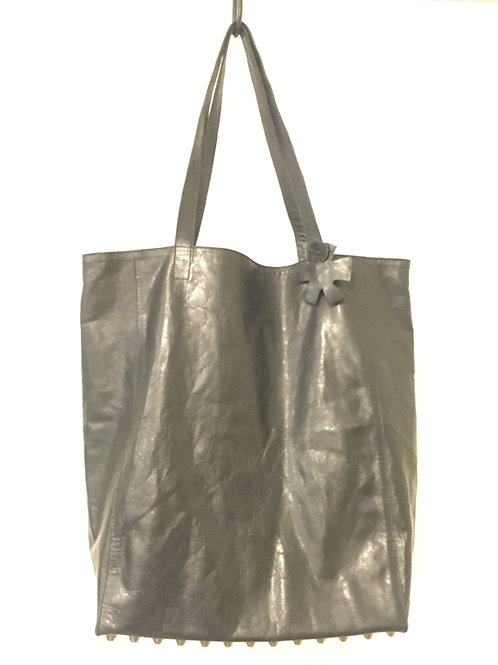 Leather Simple Shopper